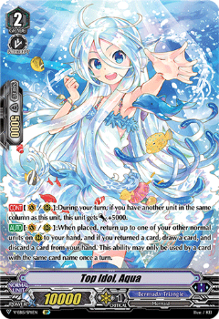 V-EB15/SP11EN Top Idol, Aqua - Twinkle Melody Cardfight!! Vanguard! English Trading Card Game