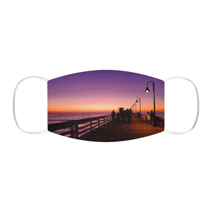 Sunset at Imperial Beach Fabric Face Mask
