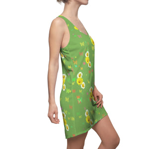 Flowers and Butterflies Dress (Green)