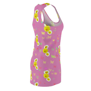 Flowers and Butterflies Dress (Pink)