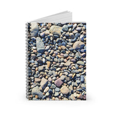Load image into Gallery viewer, Beach Pebbles Spiral Notebook