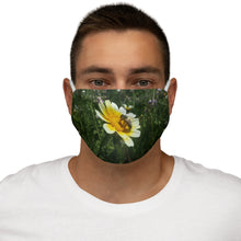 Load image into Gallery viewer, Bee on Flower Fabric Face Mask