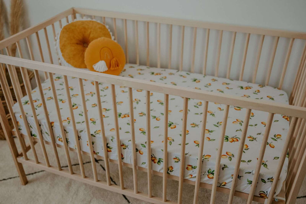 Snuggle Hunny Kids - Lemon Fitted Cot Sheet