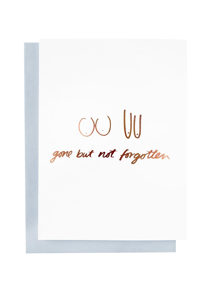 Blushing Confetti - Gone But Not Forgotten Greeting Card