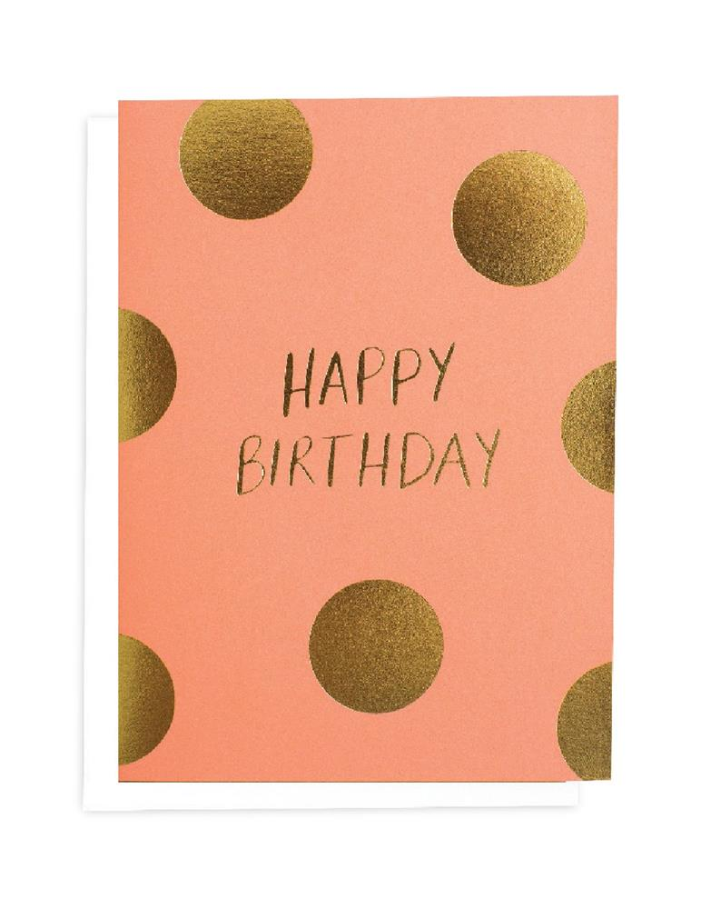 Blushing Confetti - Happy Birthday - Greeting Card