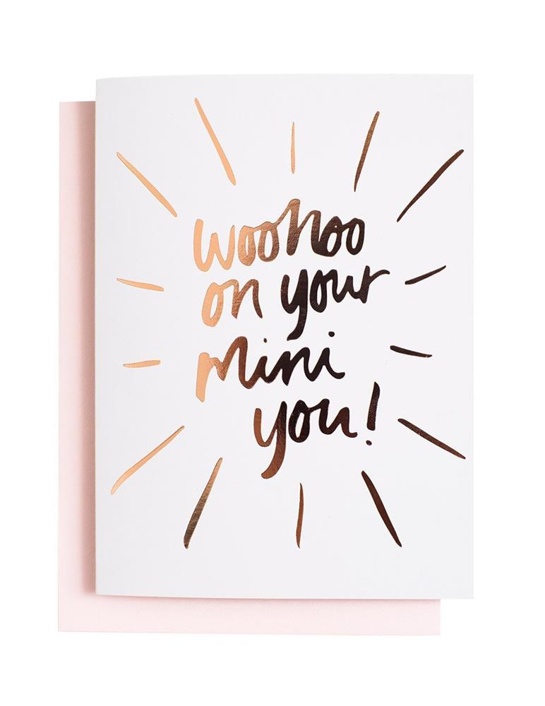 Blushing Confetti - Woohoo On Your Mini You - Greeting Card