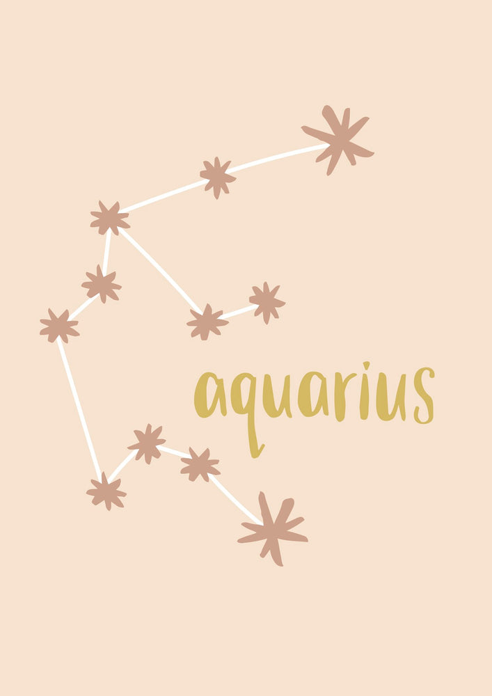 Emma Alice Designs - Aquarius Zodiac Print