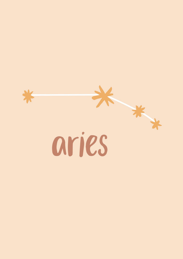 Emma Alice Designs - Aries Zodiac Print