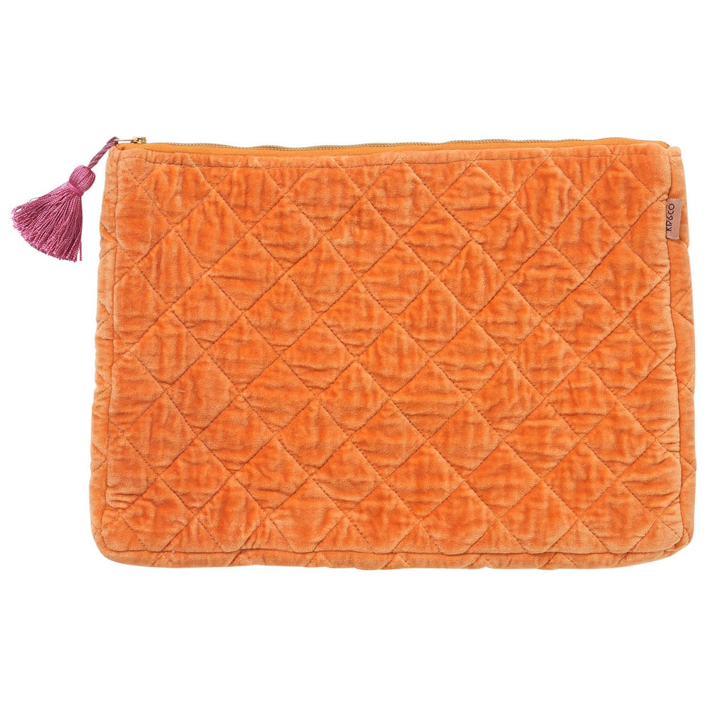Kip and Co - Marmalade Velvet Quilted Laptop Case