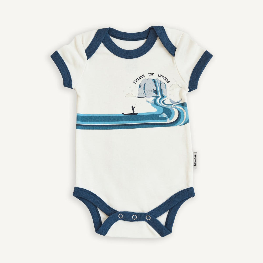 BANABAE - Fishing For Dreams Organic Cotton Onesie