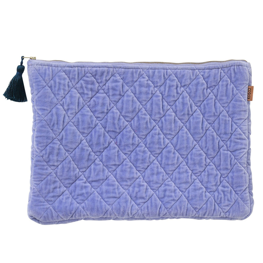 Kip and Co - Lilac Jewel Velvet Quilted Laptop Case