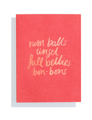 Blushing Confetti - Christmas - Red Favourite Things Greeting Card