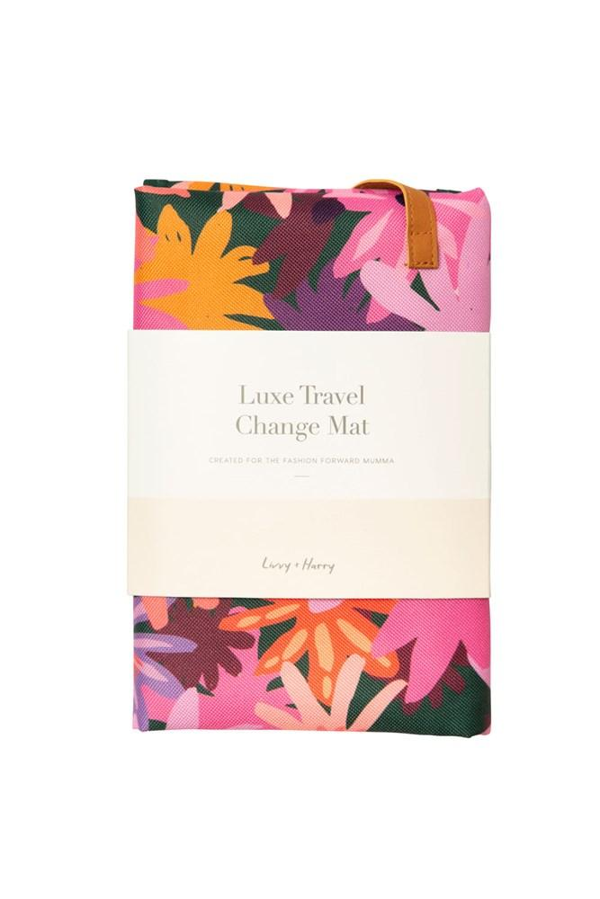The Somewhere Co - Colourpop Floral Travel Baby Change Mat