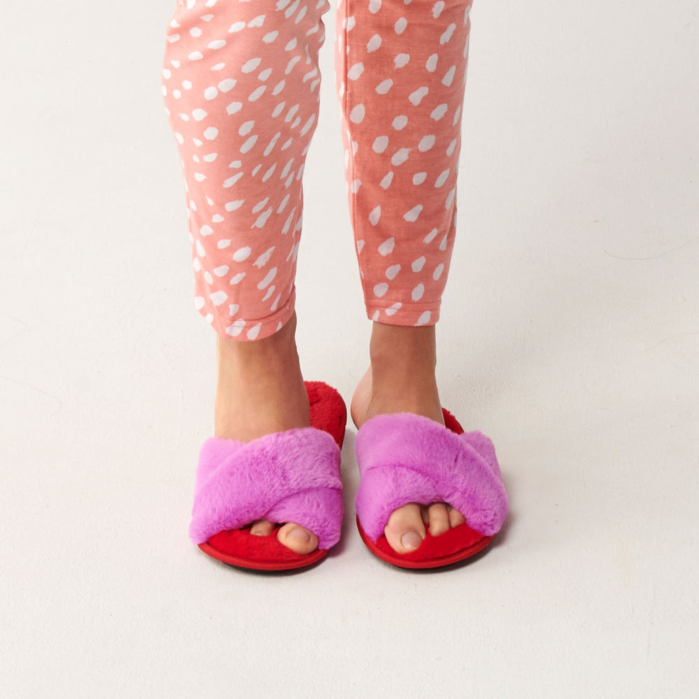 Kip and Co - Raspberry Bubble Adult Slippers