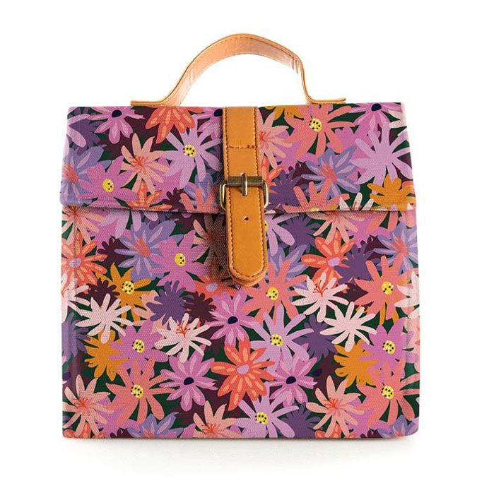 Blushing Confetti - Floral Forest Large Lunch Bag