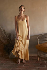 Before Anyone Else - Amber Dress Gold Mustard