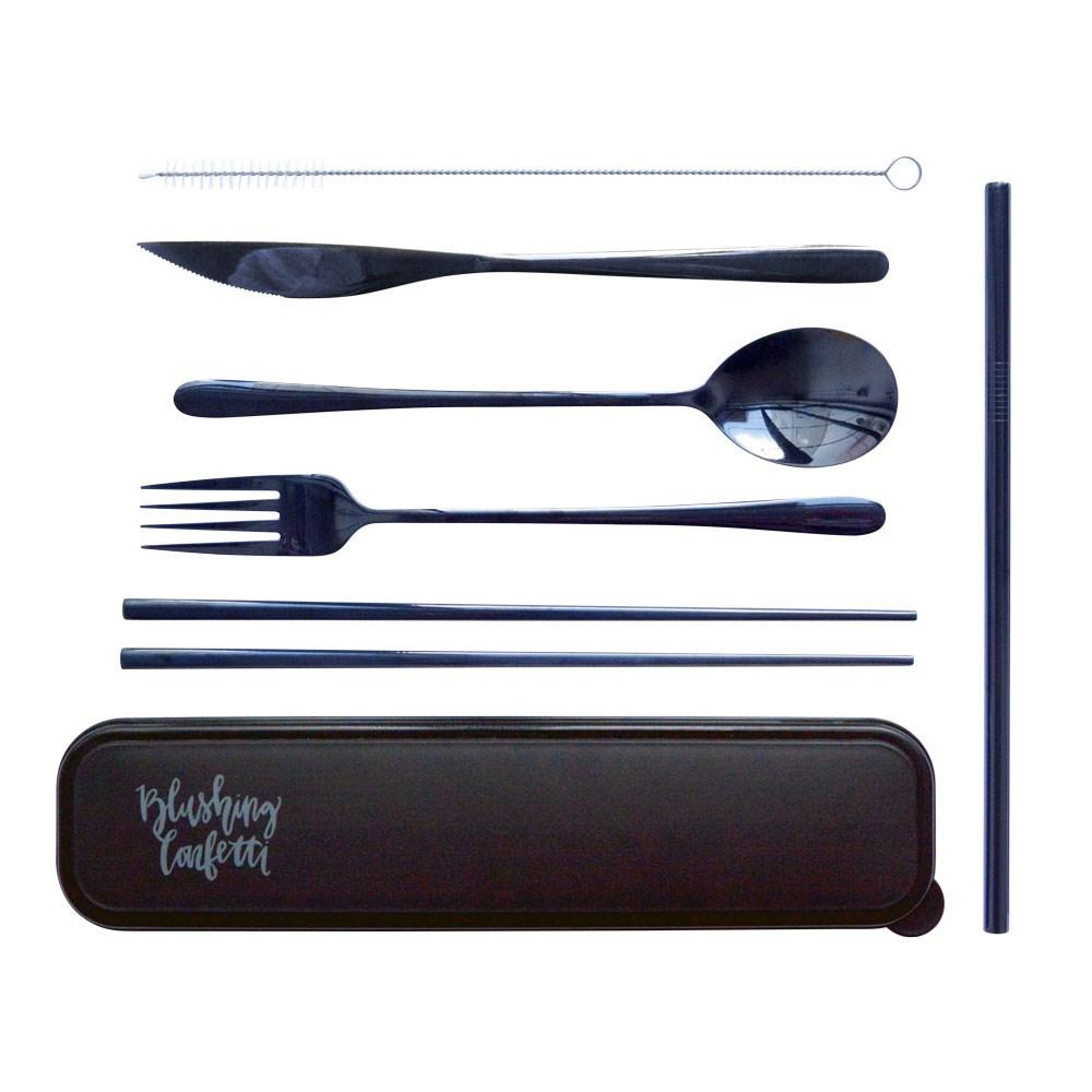 The Somewhere Co - Take Me Away Cutlery Kit - Black