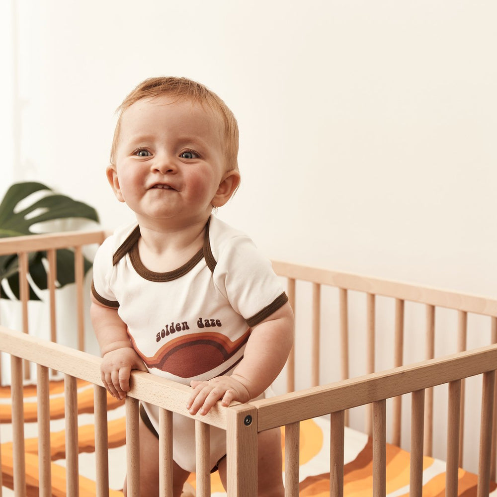 BANABAE - Golden Daze Organic Cotton Onesie