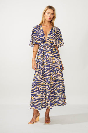 Suboo -  Into The Wilds Cape Dress - Zebra Print