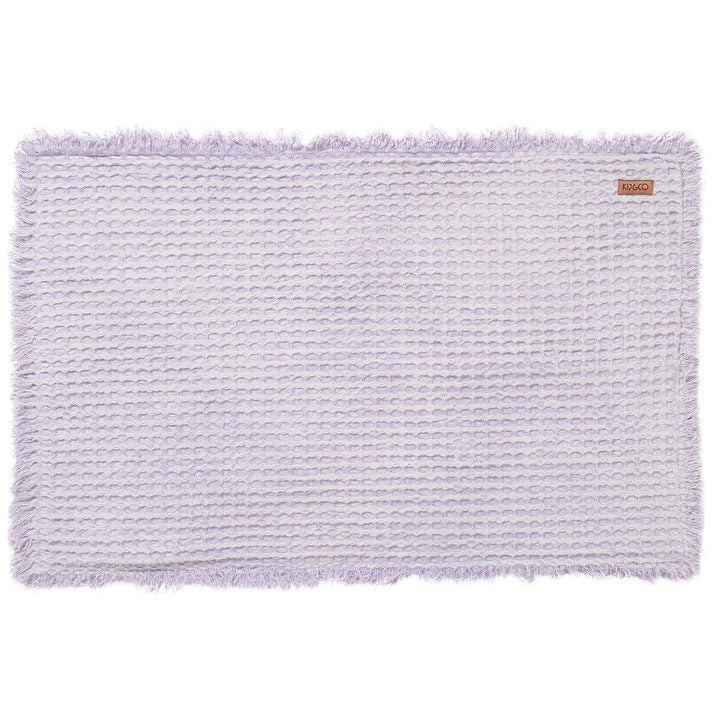 Kip and Co - Pastel Lilac Waffle Bath Mat