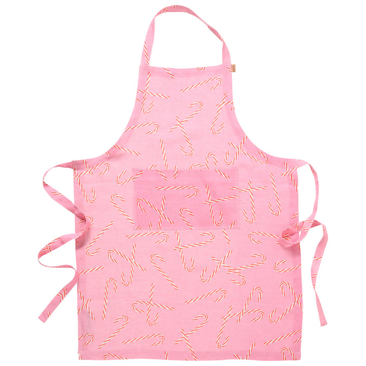 Kip and Co - Candy Cane Linen Apron
