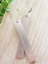 Load image into Gallery viewer, Silver Leather Bar Earrings
