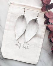Load image into Gallery viewer, Marble Leather Leaf Earrings