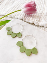 Load image into Gallery viewer, Red Glitter Leather Teardrop Earrings