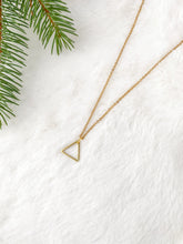 Load image into Gallery viewer, Brass Triangle Necklace
