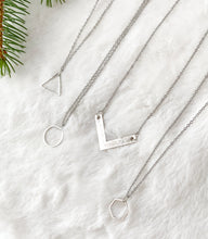 Load image into Gallery viewer, Silver Hexagon Necklace