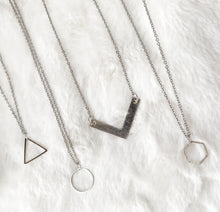 Load image into Gallery viewer, Silver Triangle Necklace