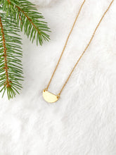 Load image into Gallery viewer, Mini Brass Half Moon Necklace