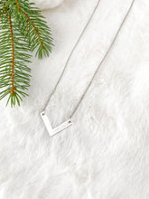 Load image into Gallery viewer, Silver Chevron Necklace