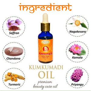 Kumkumadi Oil for skin lightening, Anti-ageing, Night serum for face and glowing skin