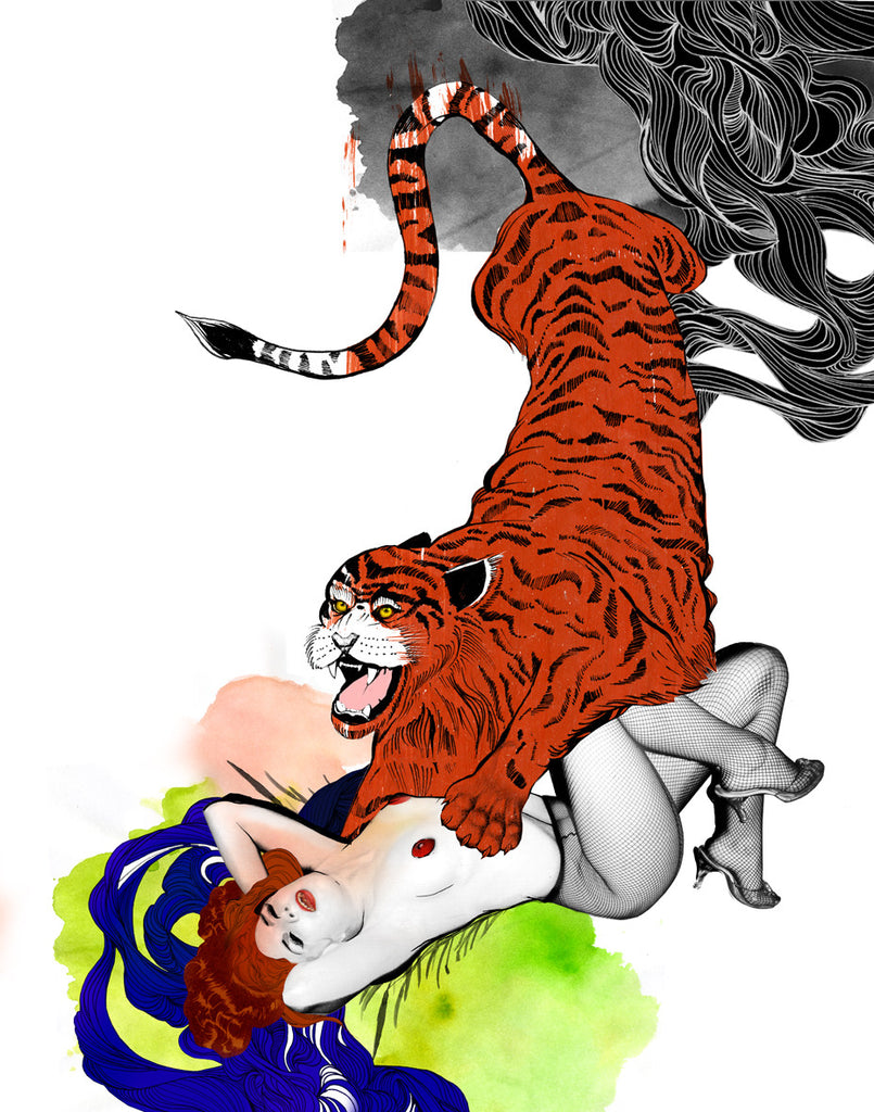 Limited Edition Print 'Like a Tiger' - Sarah Howell Limited Edition - 1