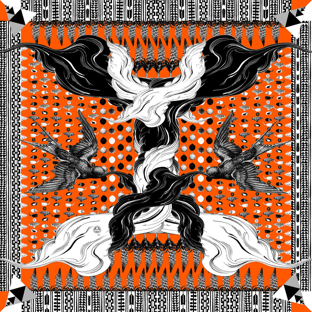 'Seed' Silk Square Scarf - Sarah Howell Limited Edition - 1