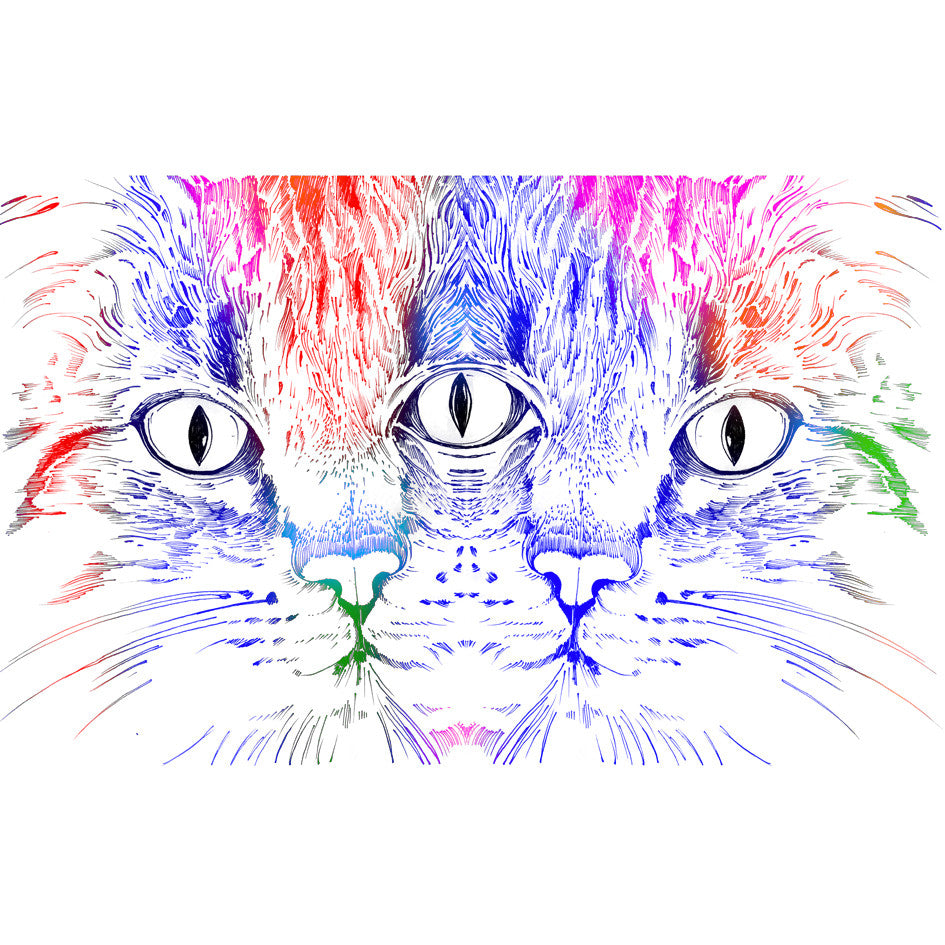 Rainbow Cat Print - Sarah Howell Limited Edition - 1