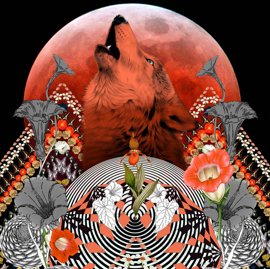 Scarf Print 'Red Moon' Limited Edition - Sarah Howell Limited Edition