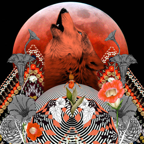 Scarf Print 'Red Moon' Limited Edition