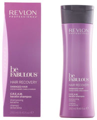 Duo BE FABULOUS by REVLON PROFESSIONAL Hair Recovery Kératine C.R.E.A.M - Shampooing 2x250 ml
