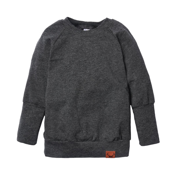 Charcoal grow with me sweater