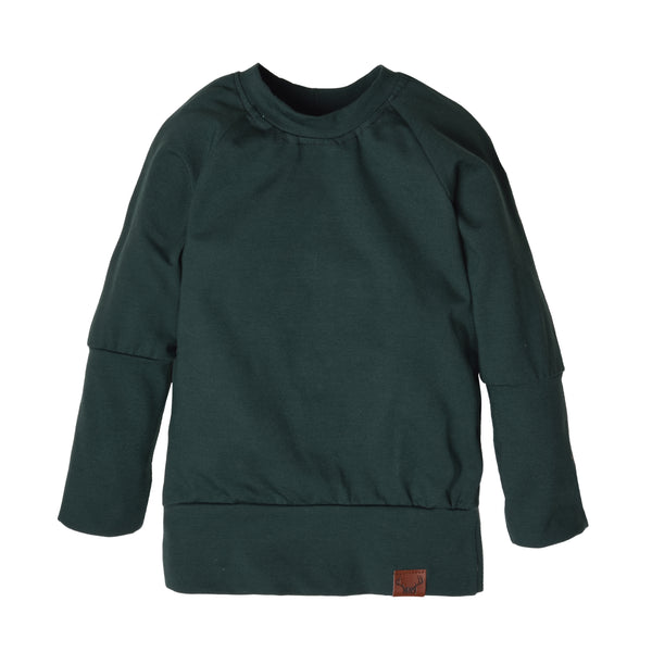 Forest green grow with me sweater