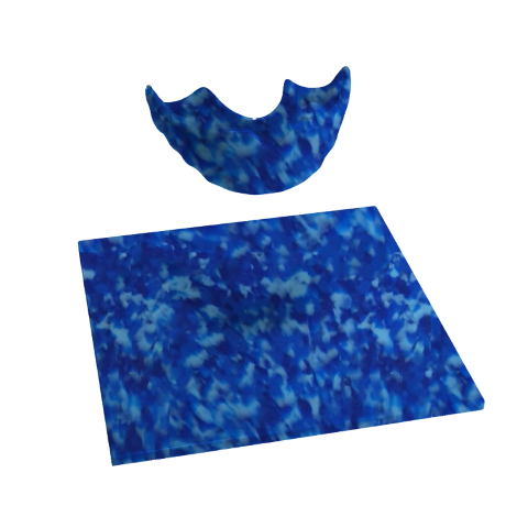 Mouthguard blanks in marbled patterns