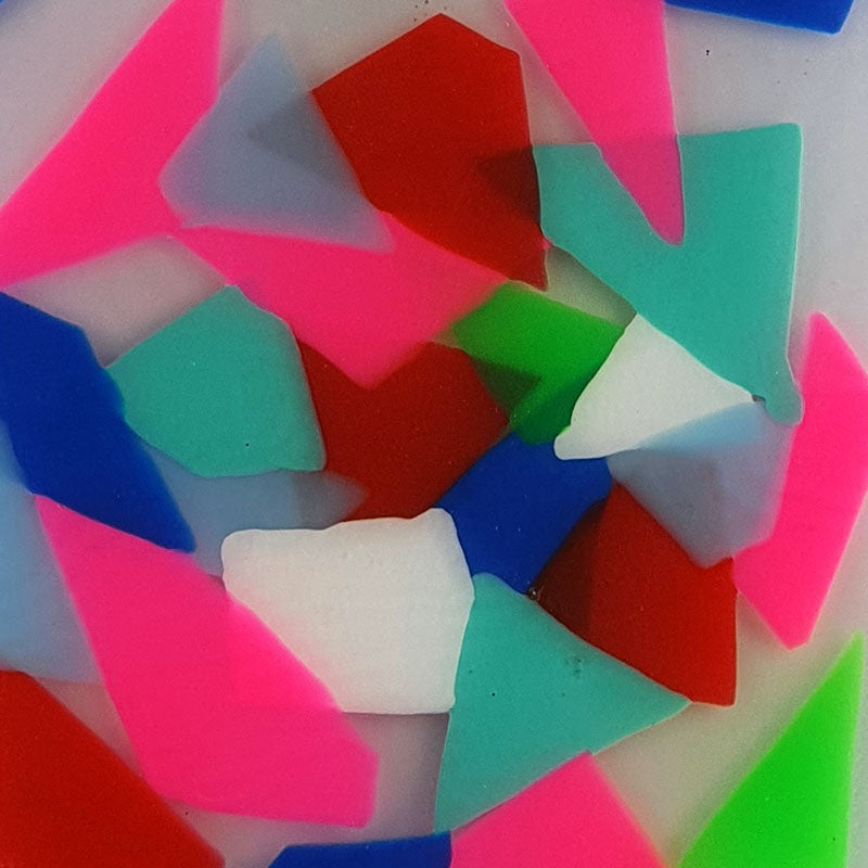Mouthguard blanks in abstract patterns