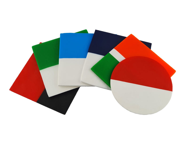 Mouthguard blanks in simple stripe patterns