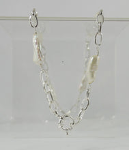 Load image into Gallery viewer, Belcher Chain Biwa Pearls & bolt Lock LUX 45cm Sterling Silver