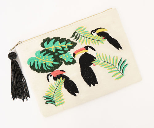 Toucan Clutch - Natural