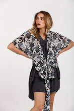 Load image into Gallery viewer, Destiny Wrap Top - Bloom Print