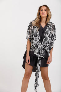 Destiny Wrap Top - Bloom Print