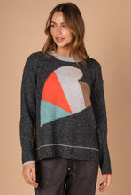Load image into Gallery viewer, HEART INTARSIA KNIT - CHARCOAL COMBO